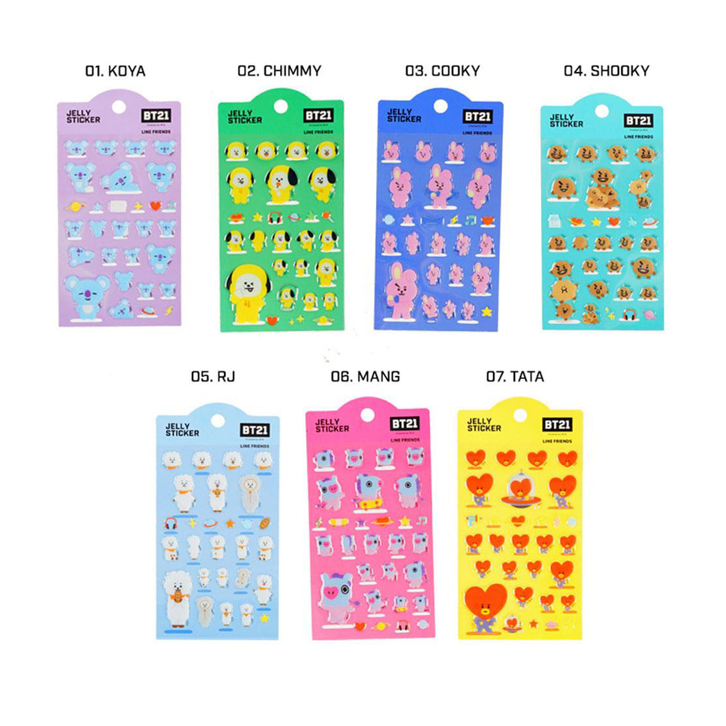 BT21 JELLY STICKERS