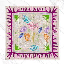 Load image into Gallery viewer, Large Square scarf : Ocean Drop Pink