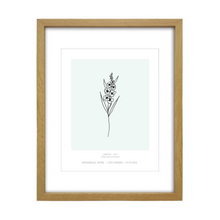 Load image into Gallery viewer, July Birth Flower Print - Larkspur