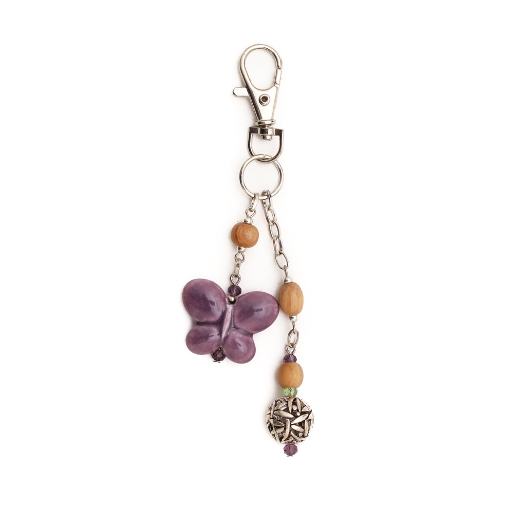 Charming Butterfly Purse Charm