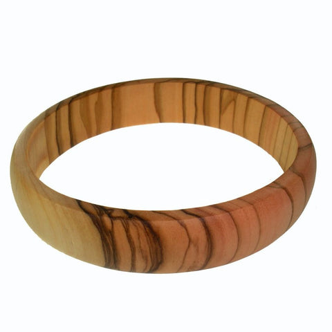 Large Thin Olive Wood Bangle