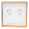 Arrowhead Triangle Earrings - Sterling