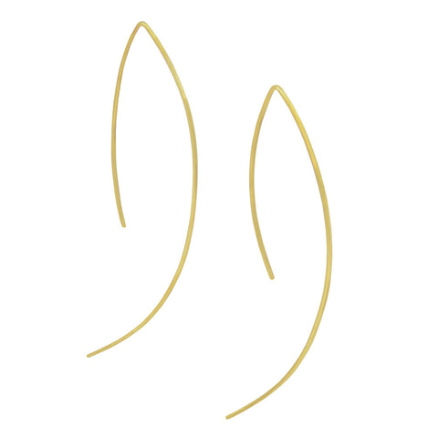 Brass Curve Earrings