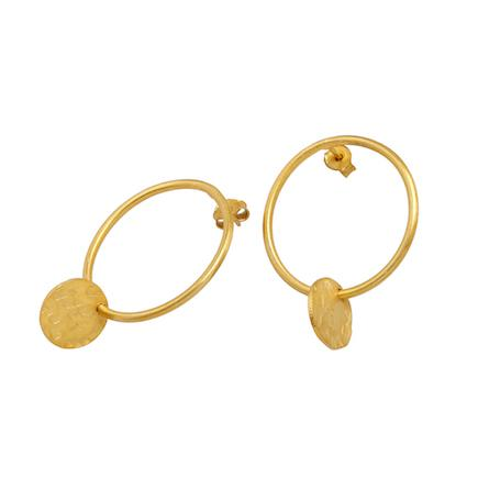 Over The Moon Earrings Gold