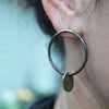 Over The Moon Earrings Raw Brass