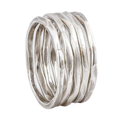 Thick Stacking Rings - Sterling Silver - Size 7.5
