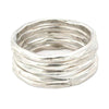 Thick Stacking Rings - Sterling Silver - Size 6.5