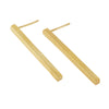 Long Brass Bar Earrings