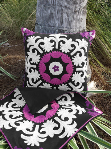 Jyrgal Embroidered Pillow Cover Set