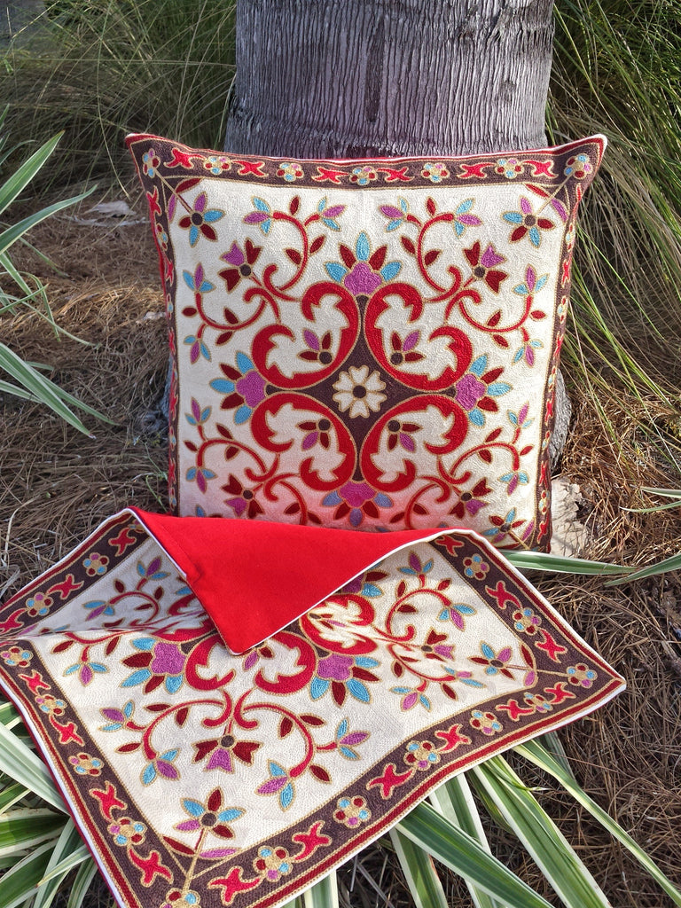 Taalay Embroidered Pillow Cover Set