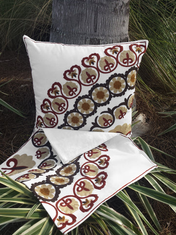 Bermet Embroidered Pillow Cover Set