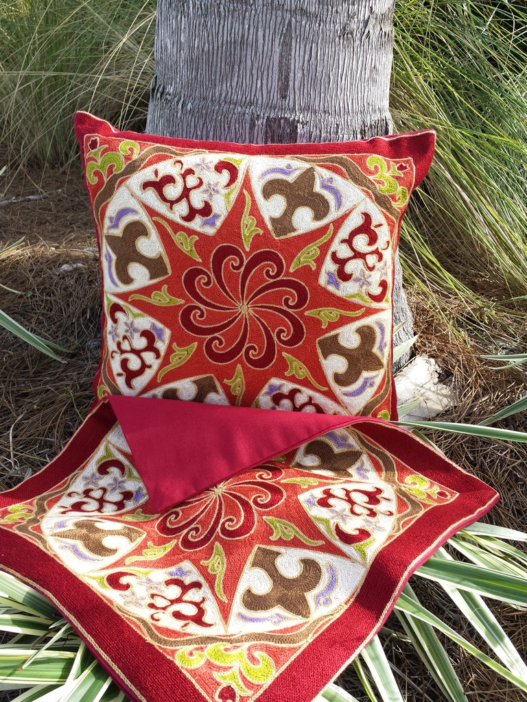 Anara Embroidered Pillow Cover Set