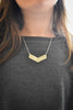 Chevron Silver Necklace