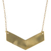 Chevron Brass Necklace