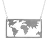Window to the World Silver Necklace