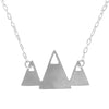 Mountain Peaks Silver Necklace