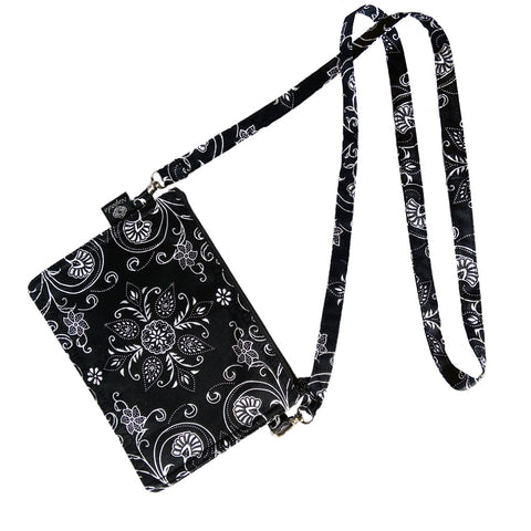 Black Lone Lily Grab-N-Go Small Purse