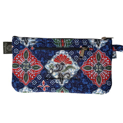 Ocean Blue Clutch Wristlet Wallet