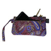 Shooting Star Purple Clutch Wristlet Wallet