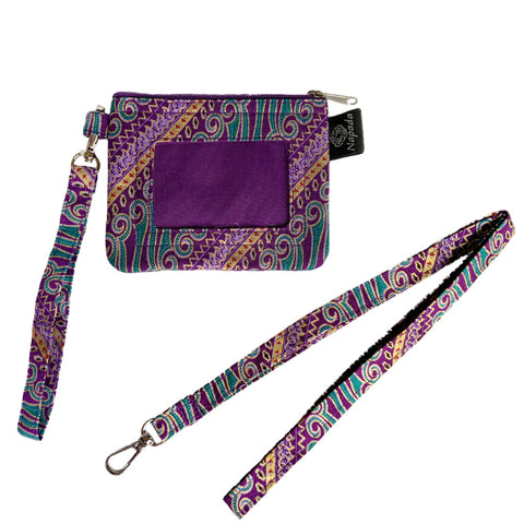 Shazam Purple  ID Wallet w/ Lanyard
