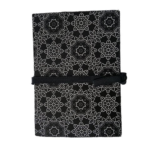 Lacey Cotton Covered Black Journal