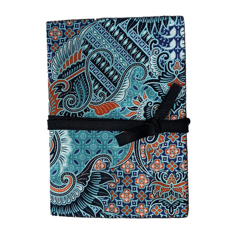 Feather Fantasy Teal Cotton Covered Journal