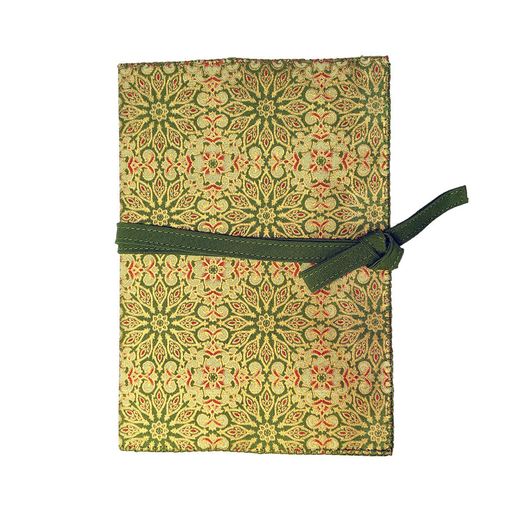 Olive Sunburst Cotton Covered Journal
