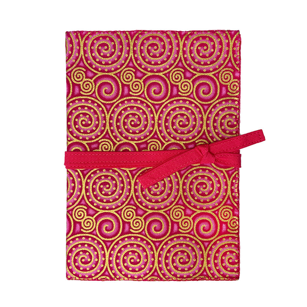 Pink Coil Cotton Covered Journal