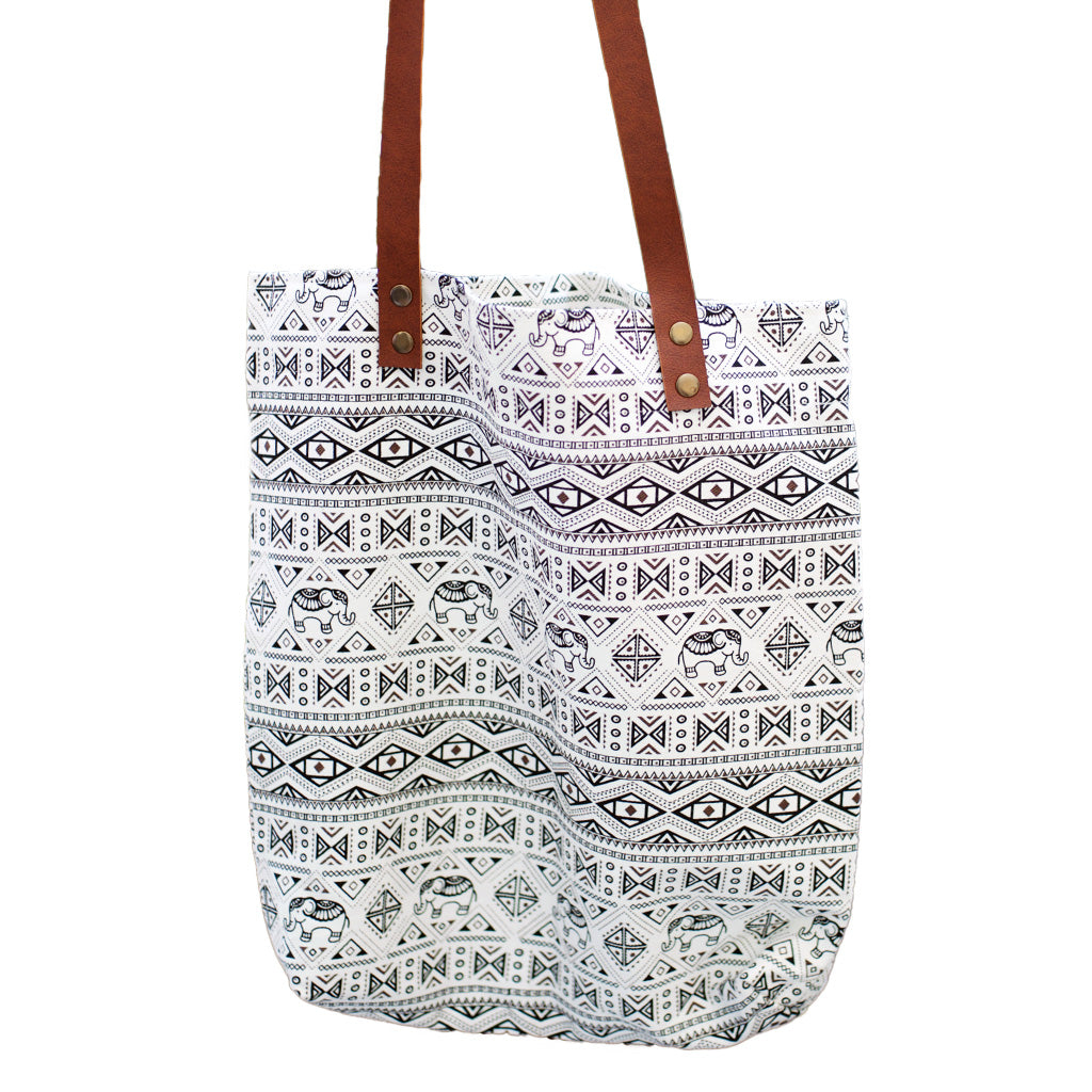 Black and White Cotton Tote