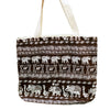 Large Brown Elephant Tote