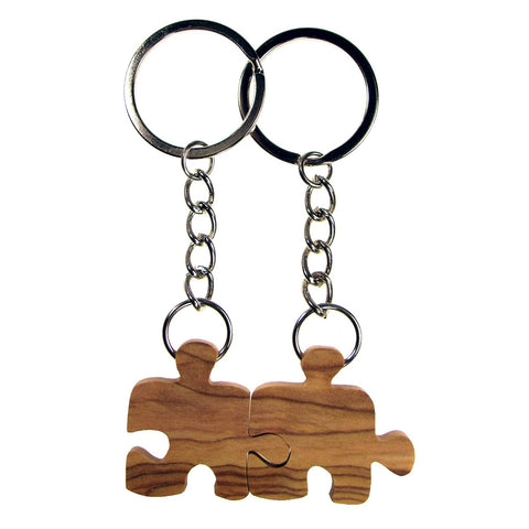 2 Puzzle Piece Friendship Keychain