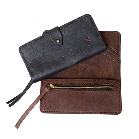 Freedom Leather Wallet in Brown