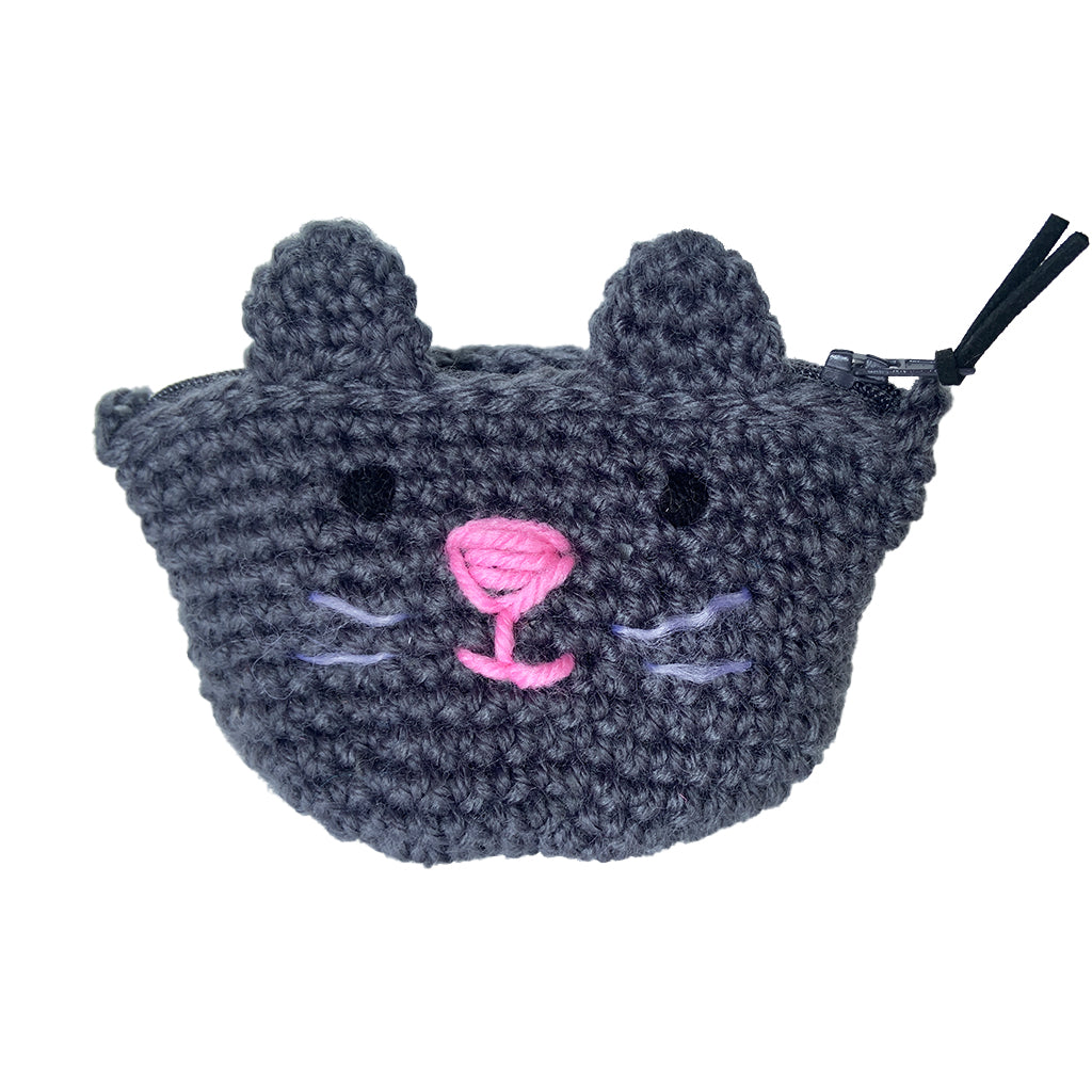 Crochet Kitten Coin Purse