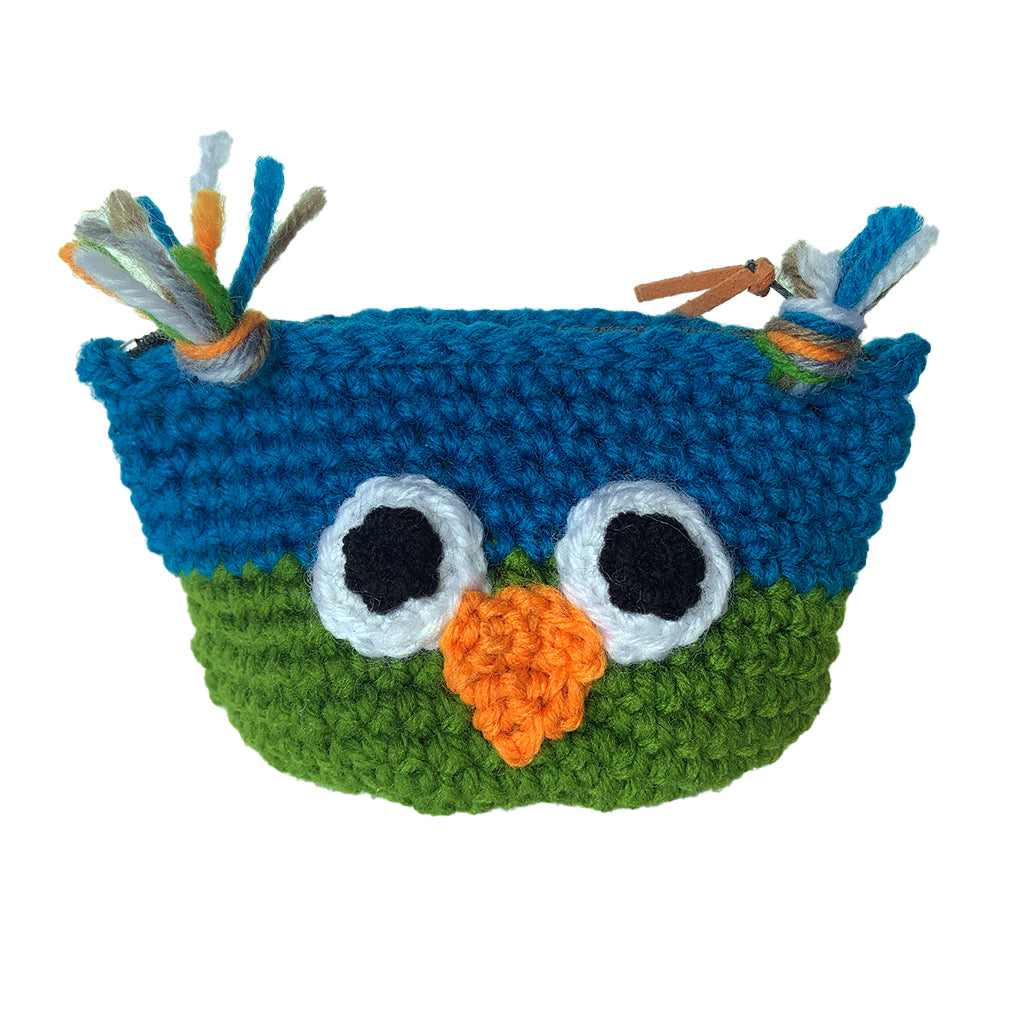 Crochet Owl Coin Purse
