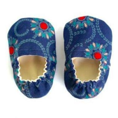 Blue Flower Booties - Size 3