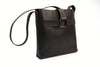 Leather Buckle Bag in Black