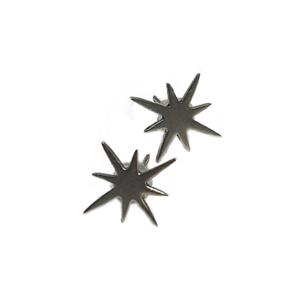 Starburst Silver Earrings