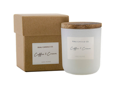 Small Riau Candle - Coffee & Cream