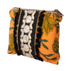 Orange Block Print Pouch