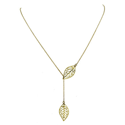 Brass Leaves Necklace