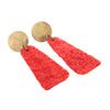 Ruby Red Crinkle Earrings