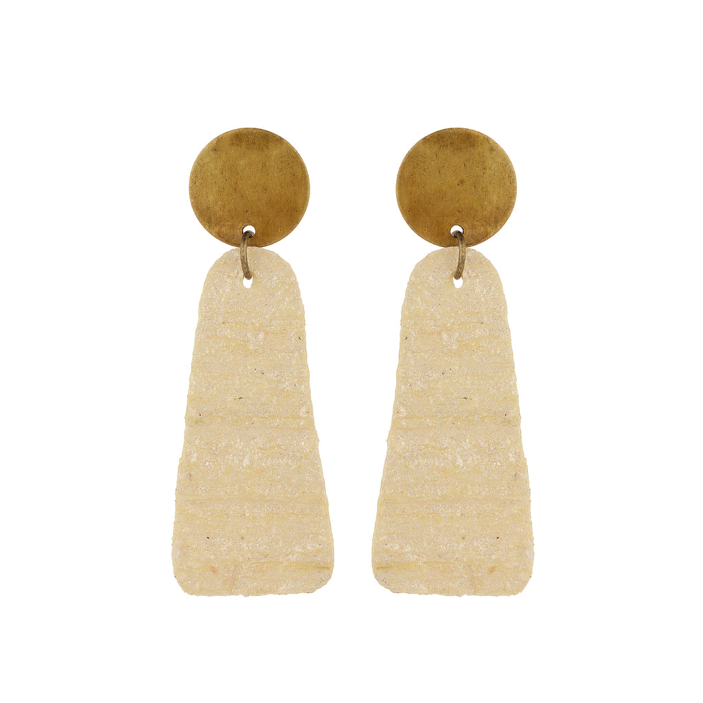 Champagne Crinkle Earrings