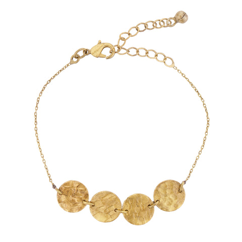 Brass Mini Disc Bracelet