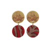 Sari and Brass Red Earrings