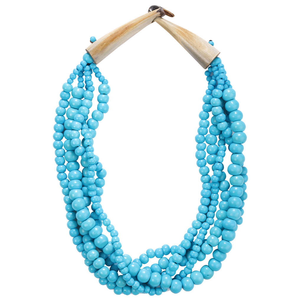 Shakti Beaded Necklace in Blue