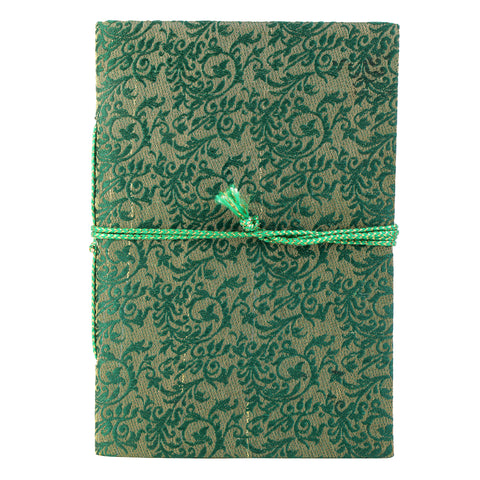 Green & Gold Sari Journal