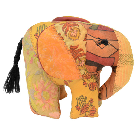 Gold Silk Patchwork Large Elephant