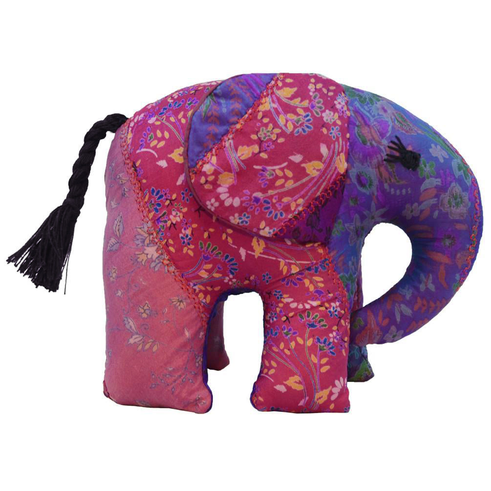 Purple Silk Patchwork Large Elephant