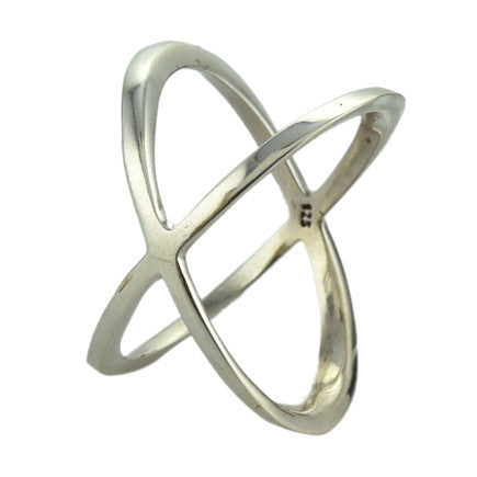 Crisscross Ring - Sterling Silver - Size 7.5