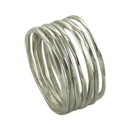 Thin Stacking Rings - Sterling Silver - Size 7.5